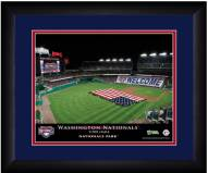 Washington Nationals 13 x 16 Personalized Framed Stadium Print
