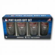 Washington Nationals 4 Pack Pint Glass Set
