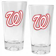 Washington Nationals Baseball Sculpted Bottom Pint Glass Set