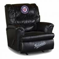 Washington Nationals Big Daddy Leather Recliner