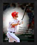 Washington Nationals Bryce Harper Framed Pro Quote