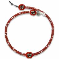 Washington Nationals Frozen Rope Color Baseball Necklace