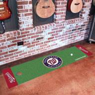 Washington Nationals Golf Putting Green Mat