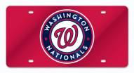Washington Nationals Laser Cut License Plate