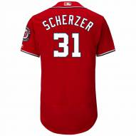 Washington Nationals Max Scherzer Authentic Scarlet Alternate Baseball Jersey