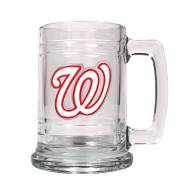 Washington Nationals MLB 2-Piece Glass Tankard Beer Mug Set