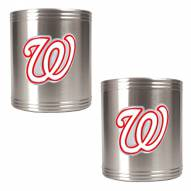Washington Nationals MLB Stainless Steel Can Holder 2-Piece Set