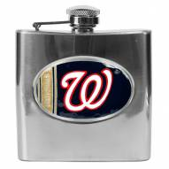 Washington Nationals MLB 6 Oz. Stainless Steel Hip Flask