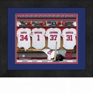 Washington Nationals Personalized Locker Room 13 x 16 Framed Photograph