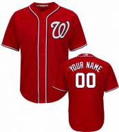 Washington Nationals Personalized Replica Scarlet Alternate Baseball Jersey