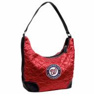 Washington Nationals Quilted Hobo Handbag