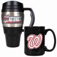 Washington Nationals Travel Mug & Coffee Mug Set