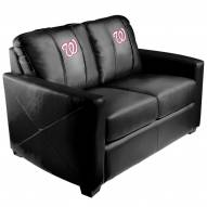 Washington Nationals XZipit Silver Loveseat with Secondary Logo