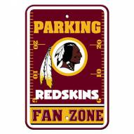Washington Redskins Fan Zone Parking Sign