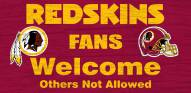 Washington Redskins Fans Welcome Wood Sign