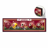 Washington Redskins Helmets Wood Sign