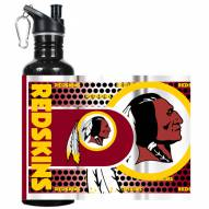 Washington Redskins Hi-Def Black Stainless Steel Water Bottle