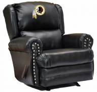 Washington Redskins Leather Coach Recliner