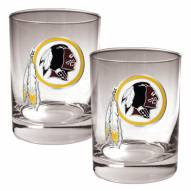 Washington Redskins Logo Rocks Glass - Set of 2