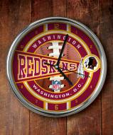 Washington Redskins NFL Chrome Wall Clock
