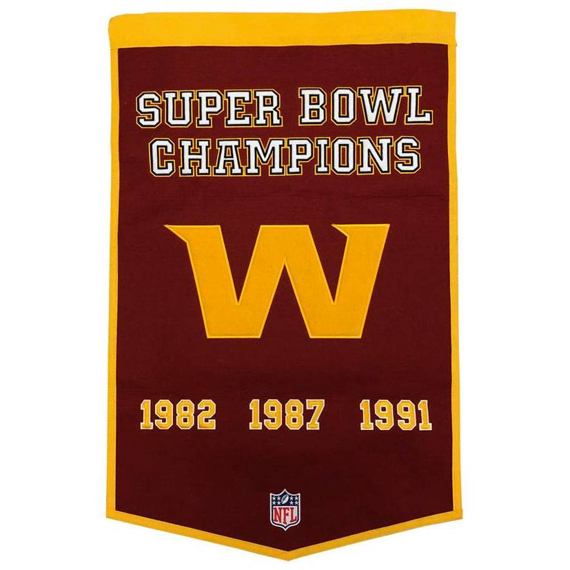 Boston Bruins Home Decor Winning Streak Washington Redskins Nfl Dynasty Banner