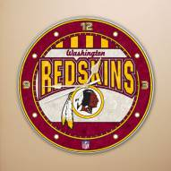 Washington Redskins NFL Stained Glass Wall Clock