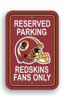 Washington Redskins Parking Sign