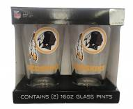 Washington Redskins Satin Etch Pint Glass - Set of 2