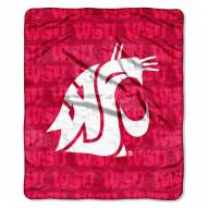Washington State Cougars Micro Grunge Blanket
