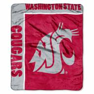 Washington State Cougars School Spirit Raschel Throw Blanket