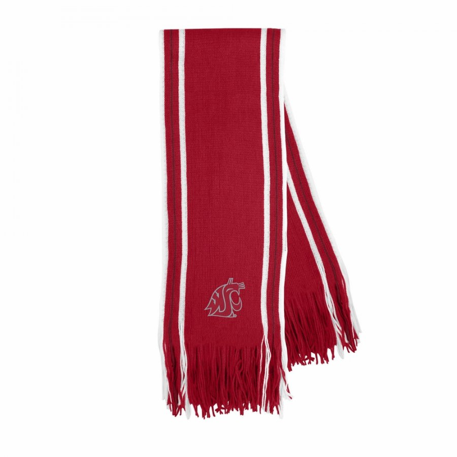 Washington State Cougars Stripe Fringe Scarf