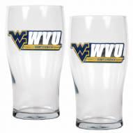 West Virginia Mountaineers 20 oz. Pub Glass - Set of 2