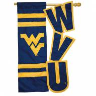 "West Virginia Mountaineers 28"" x 44"" Applique Flag"