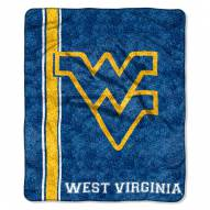 West Virginia Mountaineers Jersey Sherpa Blanket