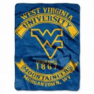 West Virginia Mountaineers Rebel Raschel Throw Blanket