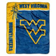 West Virginia Mountaineers School Spirit Raschel Throw Blanket