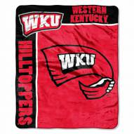 Western Kentucky Hilltoppers Label Raschel Throw Blanket