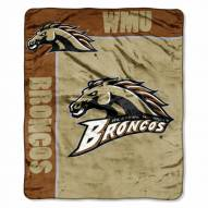 Western Michigan Broncos Label Raschel Throw Blanket