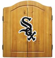 Chicago White Sox MLB Complete Dart Board Cabinet Set (w/ darts & flights)