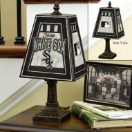 Chicago White Sox MLB Hand-Painted Art Glass Table Lamp
