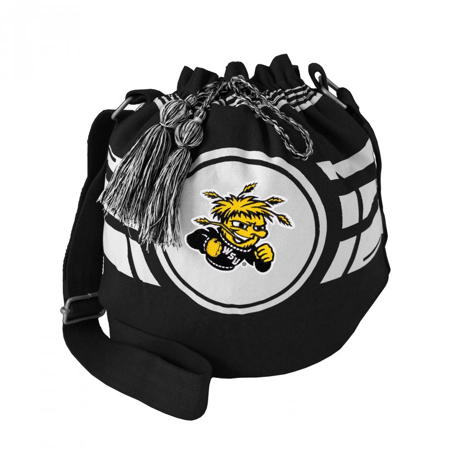 Wichita State Shockers Ripple Drawstring Bucket Bag