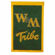 "William & Mary Tribe 28"" x 44"" Double Sided Applique Flag"