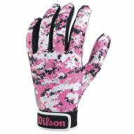 Wilson Pink Camo Adult Football Receiver Gloves