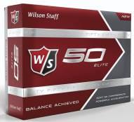 Wilson Staff Fifty Elite Golf Balls - Yellow