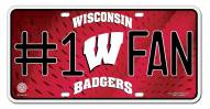 Wisconsin Badgers #1 Fan License Plate