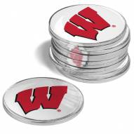 Wisconsin Badgers 12-Pack Golf Ball Markers