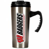 Wisconsin Badgers 16 oz. Stainless Steel Travel Mug