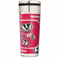 Wisconsin Badgers 22 oz. Hi Def Travel Tumbler