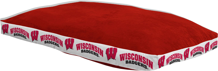 """Wisconsin Badgers 26"""""""" x 37"""""""" Dog Bed"""