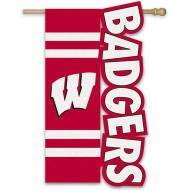 "Wisconsin Badgers 28"" x 44"" Applique Flag"